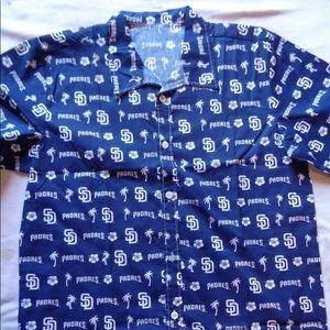 Other - San Diego Padres Button Shirt Medium Adult